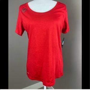 NWT NIKE RED DRI FIT COTTON SHORT SLEEVE TEE